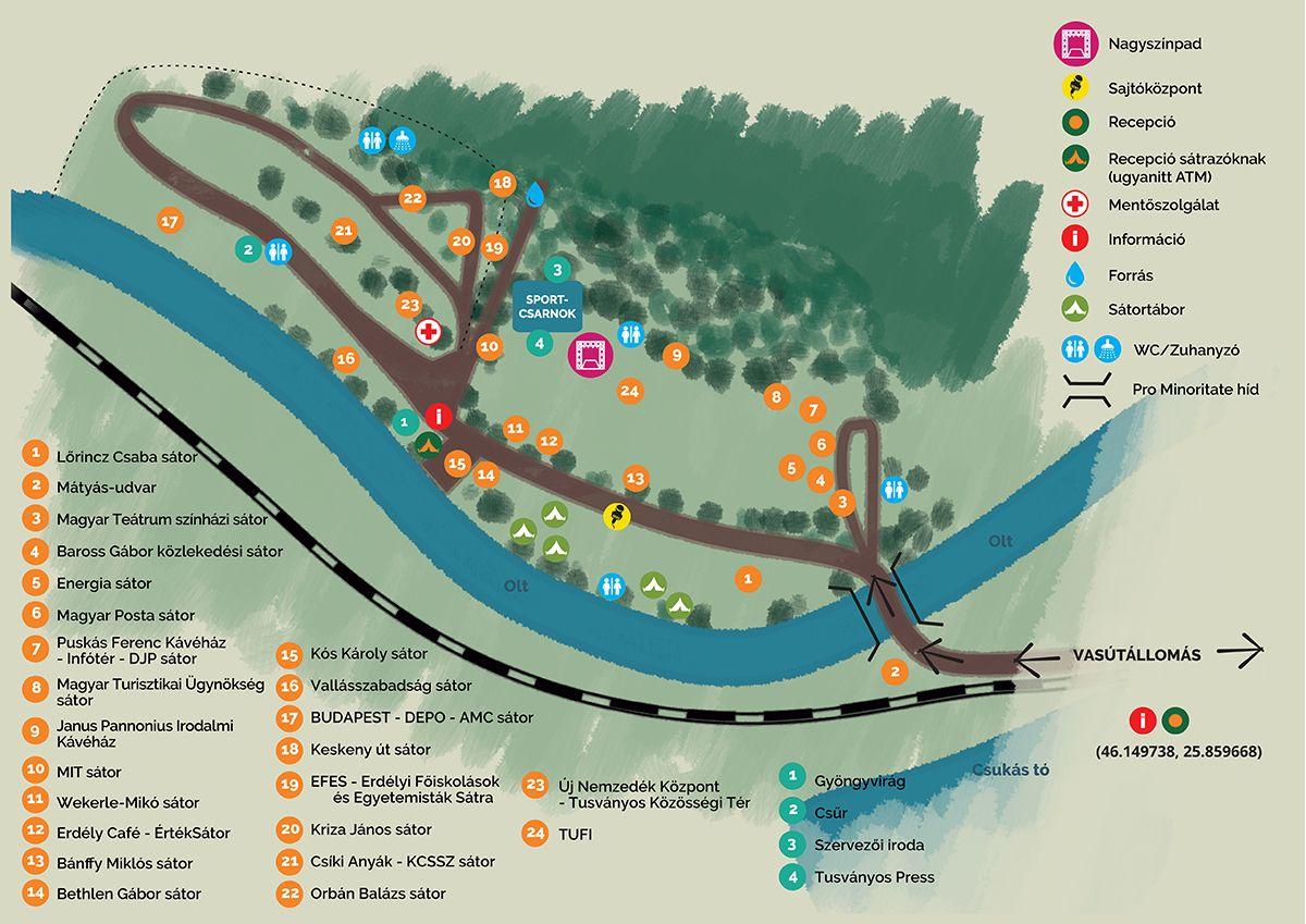 tusványos térkép Térkép – Bálványosi Szabadegyetem és Diáktábor tusványos térkép